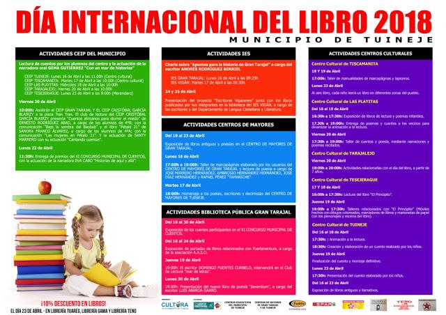 Tuineje celebra el Día Internacional del Libro 2018 con completo programa de actividades