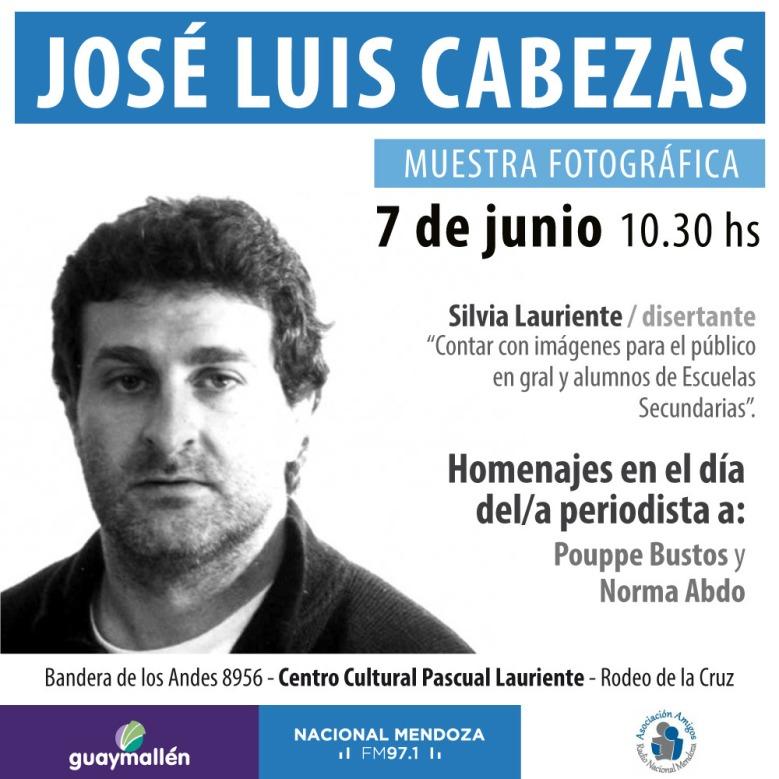 Muestra José Luis cabezas. Placa
